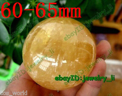 Rare Natural Quartz Crystal Sphere Gemstone Ball Healing ~60Mm