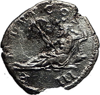 HADRIAN 119AD Rome OCEANUS Sea God Authentic Ancient Silver Roman Coin i60461