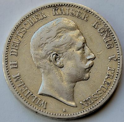 5 Mark 1899 A German States Prussia Silver Coin Germany Wilhelm II