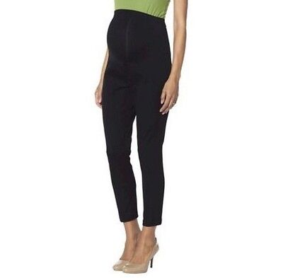 NWT Liz Lange Maternity Over The Belly Black Ankle Women's Pants Large L