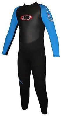 NEW TWF Full Wetsuit 2.5mm Age 11/12 - Black/Blue