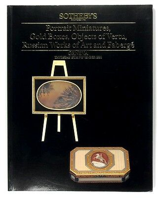 SOTHEBY'S Portrait Miniatures Gold Boxes Objects of Vertu Russian Art & Faberge