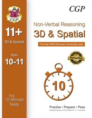 10-Minute Tests for 11+ Non-Verbal Reasoning: 3D and Spatial (Ages 10-11) - CEM.