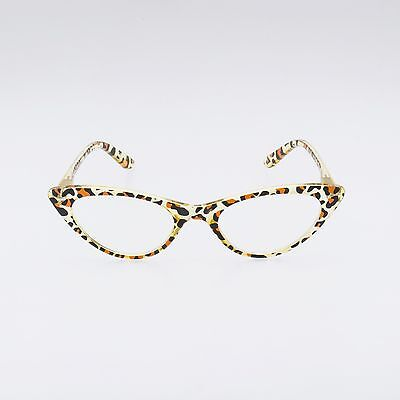 GIDGET Crystal Leopard 50s retro CAT EYE readers clear+1.25 +1.5 +2.0 +2.5 +3.00