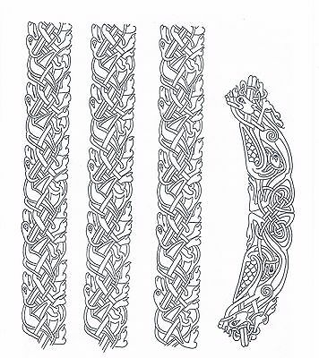 Celtic Knot Border Designs ~ Iron-on Embroidery Transfer Pattern 28