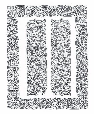 Celtic Knot Frame & Border ~ Iron-on Embroidery Transfer Pattern 30
