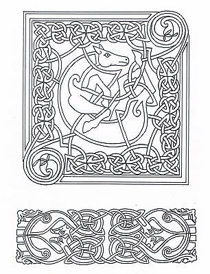Celtic Knot ~ Horse Design ~ Iron-on Embroidery Transfer Pattern 32