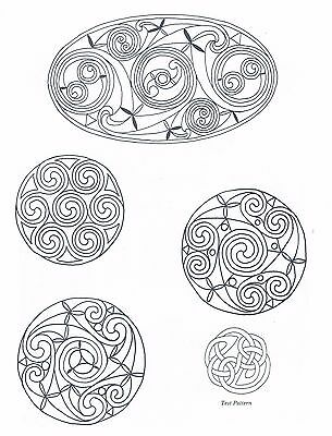 Celtic Knot Spiral Designs ~ Iron-on Embroidery Transfer Pattern 36