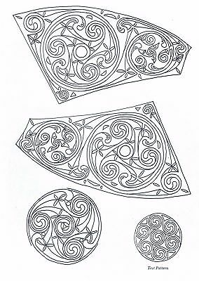 Celtic Knot Spiral Designs ~ Iron-on Embroidery Transfer Pattern 37