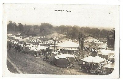 BARNET FAIR, Hertfordshire, View of Fairground, RP Postcard Postally Used 1911