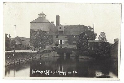 SOHAM The Water Mill #26, RP Postcard Postally Used 1916