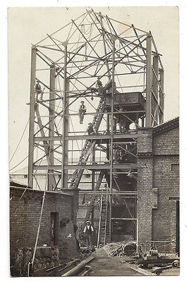 WISBECH Workers on Building Site, RP Postcard by Lilian Ream, Unused