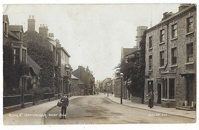 UPPINGHAM High Street, West End, RP Postcard by Dolby, Postally Used 1915