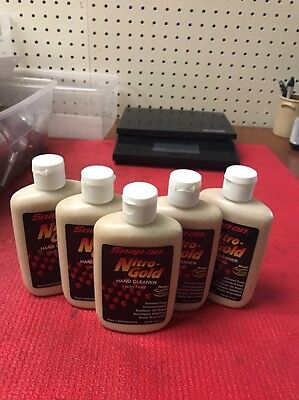 Snap-on Nitro-Gold Hand Cleaner Soy Protein Water Activated Lot of 5 @ 4 oz each