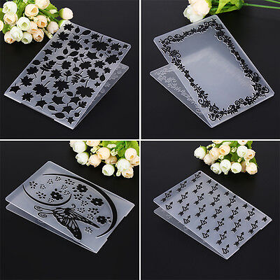Embossing Folder Template DIY Scrapbooking Paper Card Craft Decor Plastic Mold