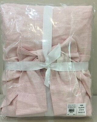 Pottery Barn Kids Pink EVELYN BOW VALANCE Blackout Curtain Panel Drape 44 x 63""