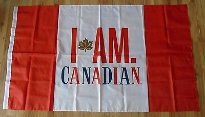 """Molson Canadian Canada Day Flag Promotion Item 60"""" X 35"""" Canada 150 Years!"""