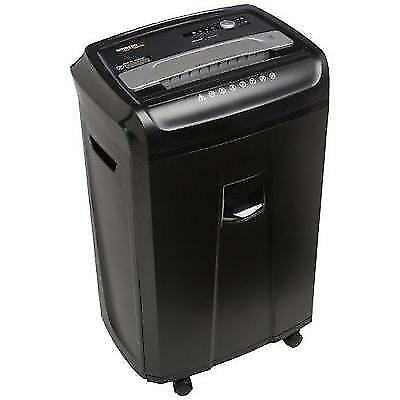 AmazonBasics 24-Sheet Cross-Cut Paper, CD, and Credit Card Shredder with Pullout