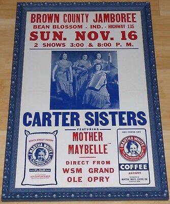 The Carter Sisters Mother Maybelle 1952 Original Concert Poster Country Music