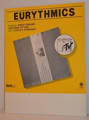 EURYTHMICS Sweet Dreams Are Made Of This Rare US Promo Bin Divider RCA Records