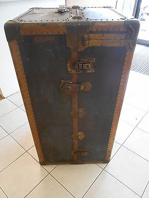 RARE ANTIQUE VINTAGE 1900's 179795 MENDEL TRUNX WARDROBE STEAMER CHEST W/ DRAWS!
