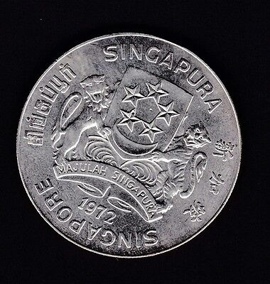Singapore Uncirculated 1972 silver $10 coin