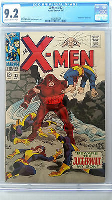 X-Men #32 CGC 9.2 NM-     Juggernaut Appearance   Original Owner Collection
