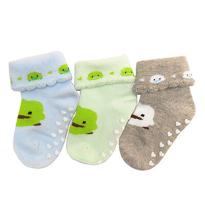 Sayoyo Baby Boy Girl Cotton Socks NewBorn Infant Toddler Kids Soft Socks 3 Pairs