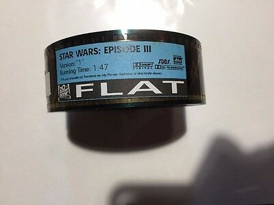 Star Wars Episode III Revenge Of The Sith Movie Trailer 35 MM Film Unused