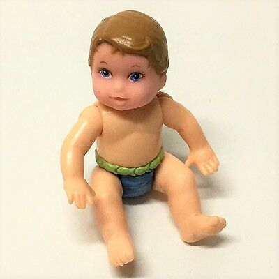 Fisher Price Loving Family Dollhouse BABY BOY DIAPER Swimsuit Infant Doll toy
