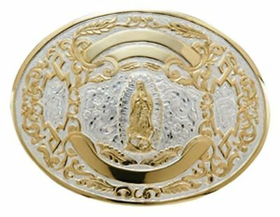 Crumrine Western Belt Buckle Wolf Howl Oval Tuff Gold Silver C08841