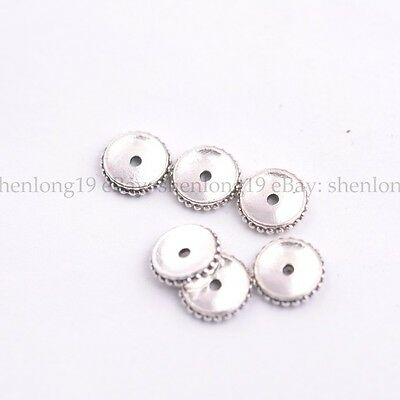 Wholesale 9MM Tibetan Silver Spacer Beads Jewelry Findings E3137