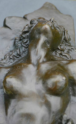 Wonderful Nude Signed Unique Abstract Contemporary Pure Bronze Sculpture Statue