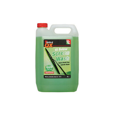 Triple QX 5L All Seasons Screenwash 5 Litre Concentrated -15C Apple Fragrance