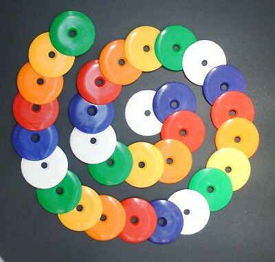50x Mix of 55mm Dia Survey Road Markers High Impact Plastic Disc Washers. S7661