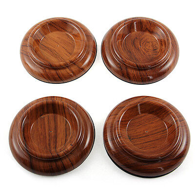 4x Piano Caster Cups- Standard Size- Protect Floor- Brown- Shock Anti-Slip Tools