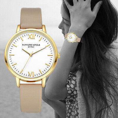 Women's/Girls Contemporary, Modernistic, Roman Numeral, Casual, Slim Strap Watch