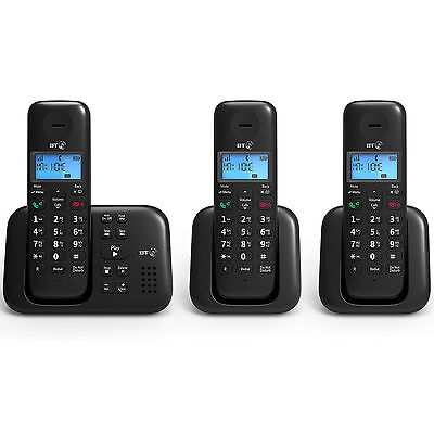 BT 3960 Trio Digital Cordless Phone With Answer Machine - New - LIMITED STOCK