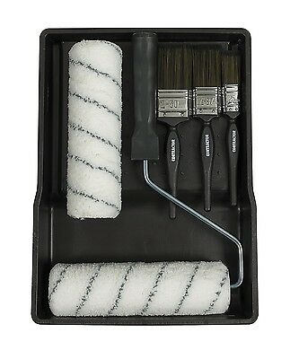 "Harris T Class Trade Roller Tray & Paint Brush Kit Set 9"" Spare Refill Emulsion"