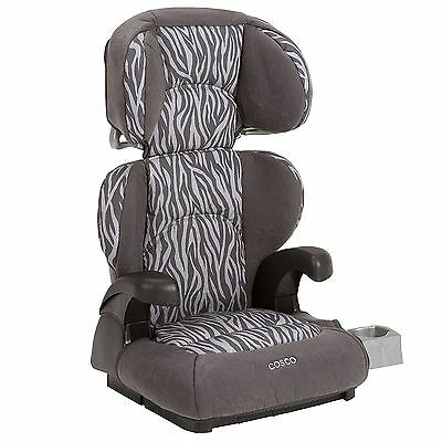 Cosco Pronto 2 in 1 Belt Positioning High Back Toddler Booster Car Seat, Ziva