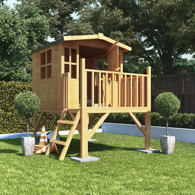 6x5 BillyOh Bunny Tower Childrens Wooden Playhouse Outdoor Playground 6ft x 5ft