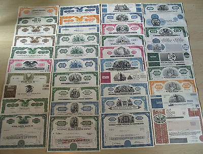 Ebay's #1 Collection Of Vintage U.s. Stock Certificates 100 Diff Capitalist Gems