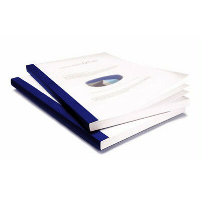 """Coverbind 1/16"""" Navy Clear Linen Thermal Covers 100pk - 575200"""