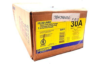 New Square D Hu-361Awk Heavy Duty Safety Switch 30A