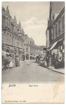 BUILTH WELLS High Street, Wrench Series Postcard #8882, Postally Used 1920