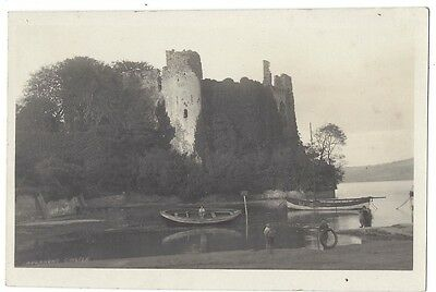 LAUGHARNE CASTLE Carmarthenshire, RP Postcard by Squibbs, Unused