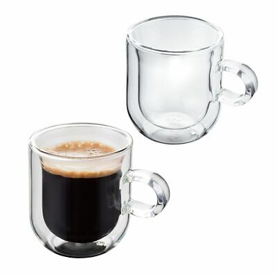 Judge Hand Crafted Double Walled Set of 2 75ml Glass Coffee Espresso Cup