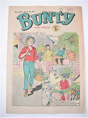 Vintage Bunty Comic No.1015 June 25th, 1977 – 40 years old! Top Birthday Gift!