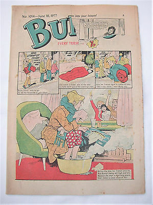 Vintage Bunty Comic No.1014 June 18th, 1977 – 40 years old! Top Birthday Gift!