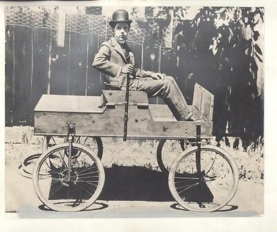 1897 Earle Anthony Electric Car Auto Los Angeles Packard ORIGINAL Photo ww7796